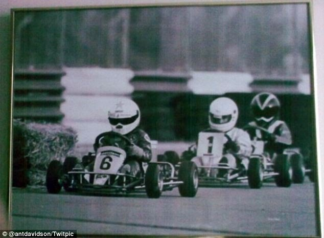 Dan WhlDon Wheldon and his mate Jensen Button (Formula-one) UK. champion)